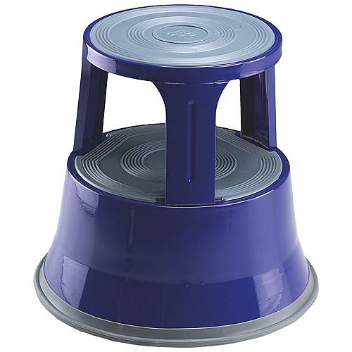 Steel Mobile Safety Step Stool Blue