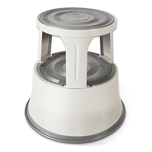 Steel Mobile Safety Step Stool Light Grey