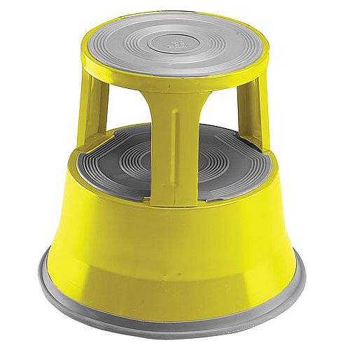 Steel Mobile Safety Step Stool Yellow Huntoffice Ie