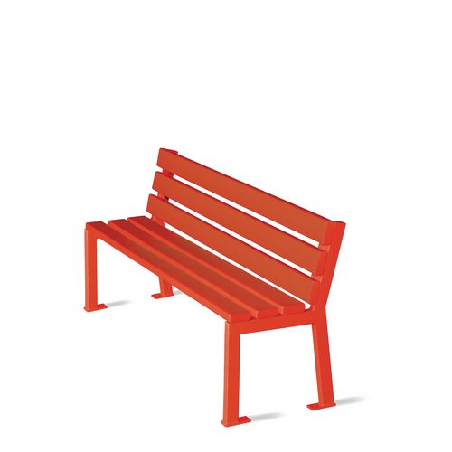 Silaos Nursery Seat Single Colour Red Pefc Certified Timber &Cast Steel Structure Finished I