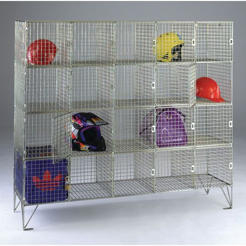 20 Compartment Mesh Locker 1370X1510X457 With Individual Doors
