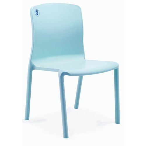 Healthcare Stacking Sidechair 460mm Seat Height Sky Blue