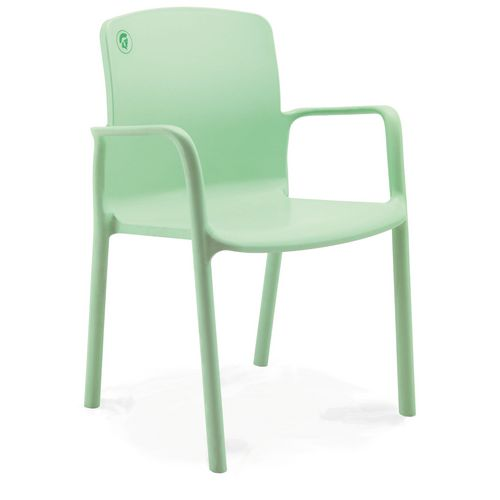 Healthcare Stacking Armchair 460mm Seat Height Moss Green