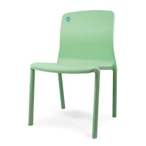 Healthcare Stacking Sidechair 460mm Seat Height Moss Green