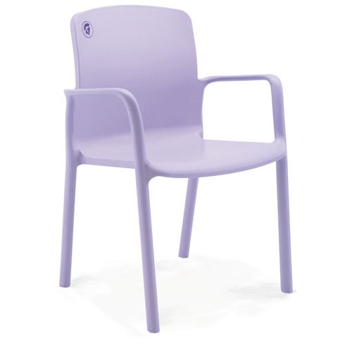 Healthcare Stacking Armchair 460mm Seat Height Lilac