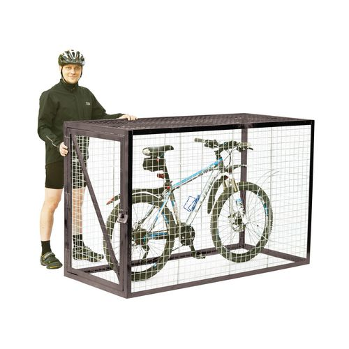 Mesh Cycle Locker With Integrated Stand