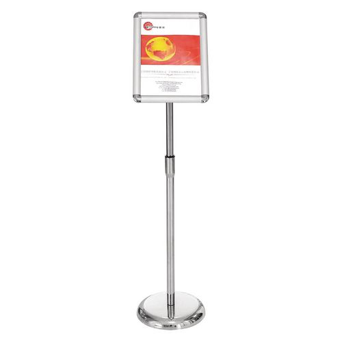 Silver A4 Adjustable Lobby Stand