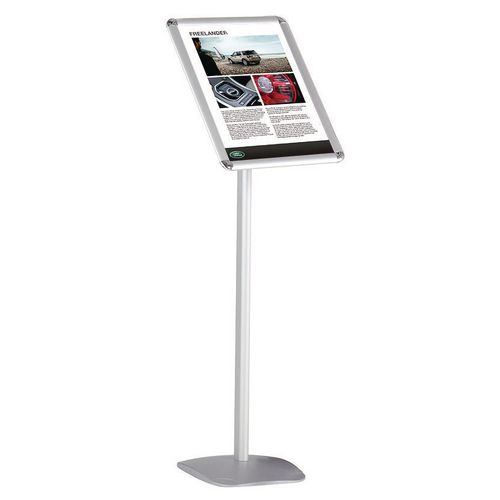 Silver A3 Fixed Height Lobby Stand