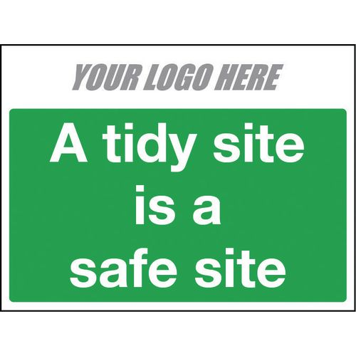 A Tidy Site Is A Safe Site 600X400mm 10mm Correx