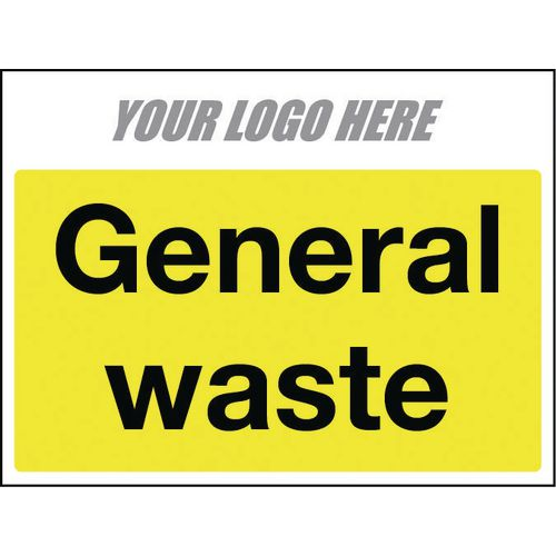 Sign General Waste 400X300mm 10mm Correx