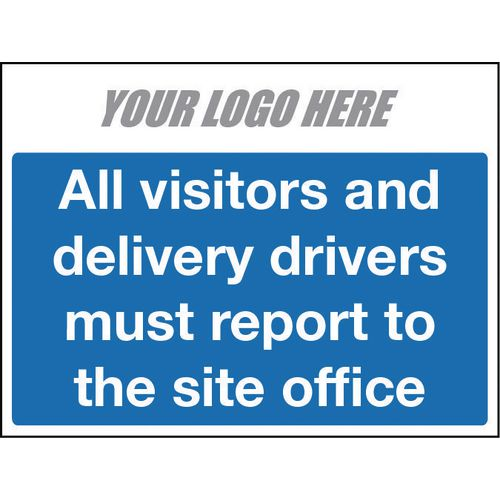 All Vistors And Delivery Drivers Sign 400X300mm 10mm Correx