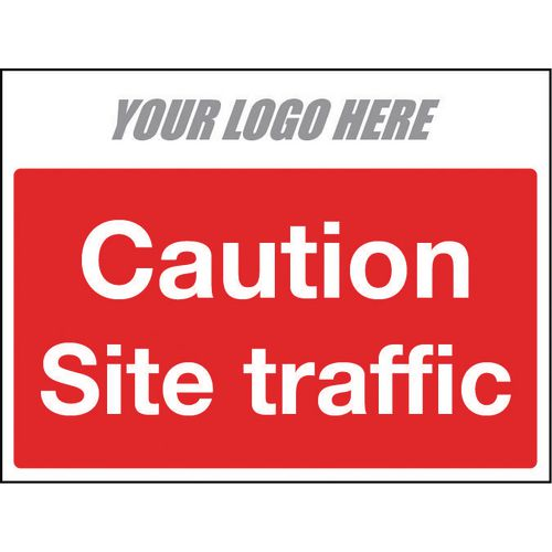 Sign Caution Site Traffic 400X300mm 4mm Correx