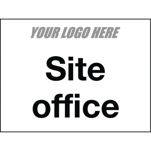 Sign Site Office 800X600mm 4mm Correx