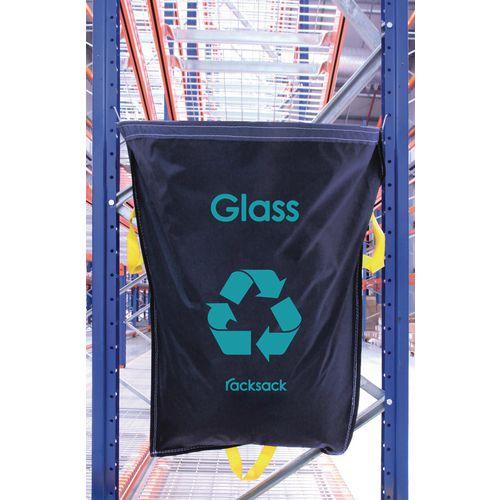 Glass Waste Blue Racksack
