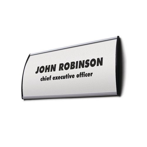 Curved Sign Holder To Hold Insert Sized 105x300mm