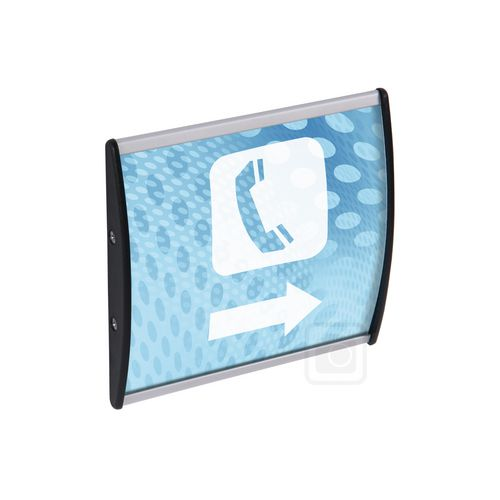 Curved Sign Holder To Hold Insert Sized 148x300mm