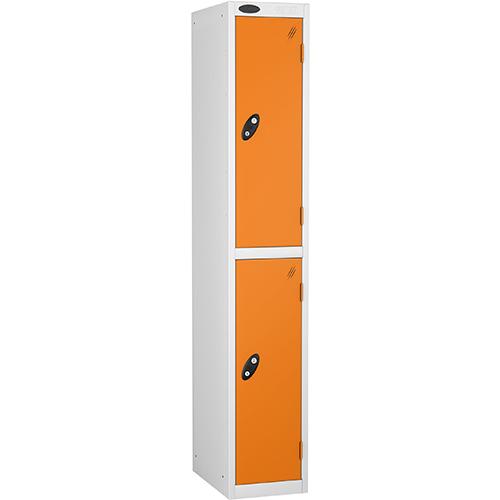 2 Door Locker D:305mm White Body &Orange Door