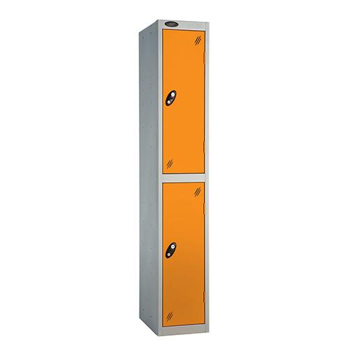 2 Door Locker D:457mm Silver Body &Orange Door
