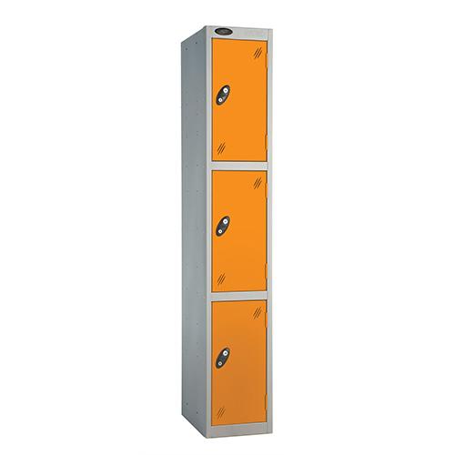 3 Door Locker D:457mm Silver Body &Orange Door
