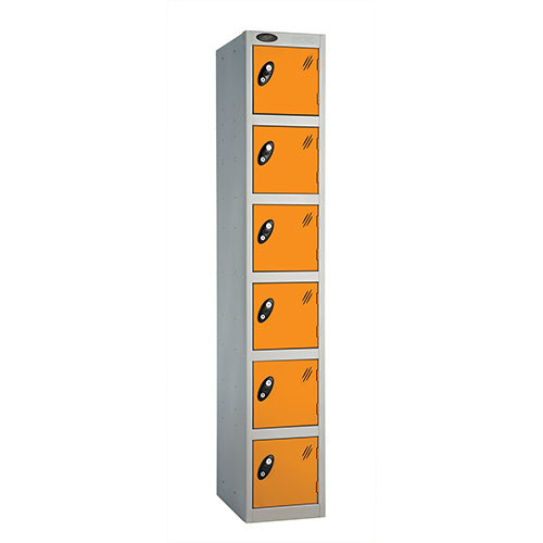 6 Door Locker D:305mm Silver Body &Orange Door
