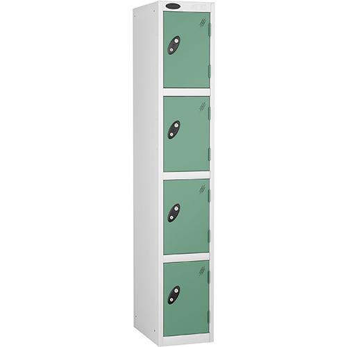 4 Door Locker D:457mm White Body &Jade Door