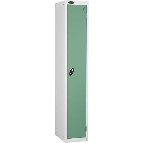 1 Door Locker D305mm White Body &Jade Door