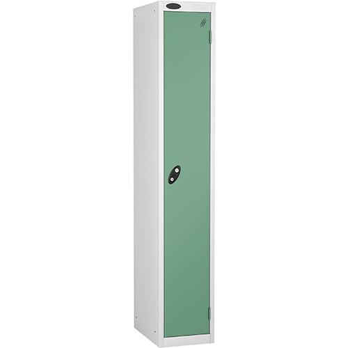 1 Door Locker D457mm White Body &Jade Door