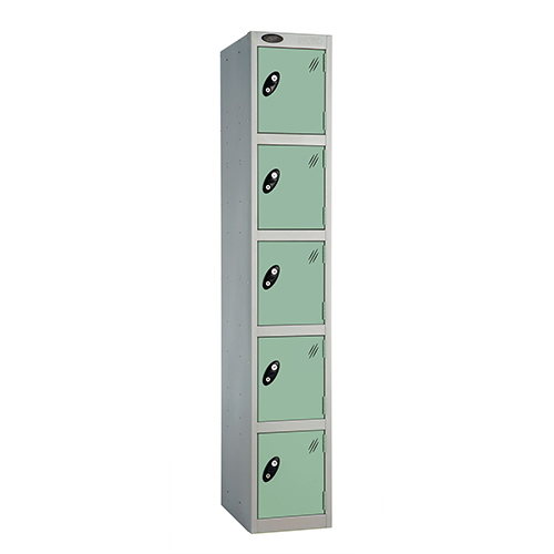5 Door Locker D:457mm Silver Body &Jade Door