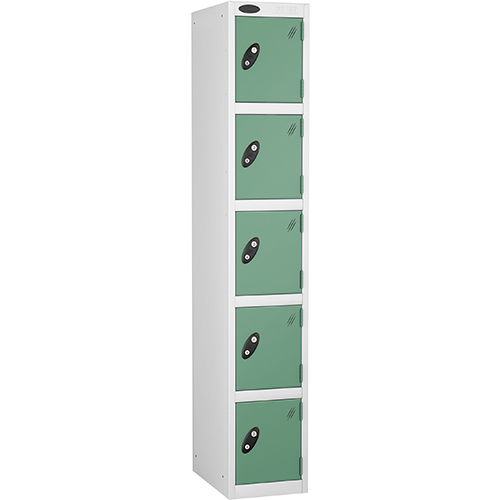 5 Door Locker D:457mm White Body &Jade Door