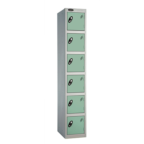 6 Door Locker D:457mm Silver Body &Jade Door
