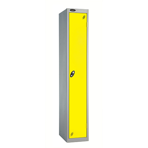 1 Door Locker D305mm Silver Body &Lemon Door