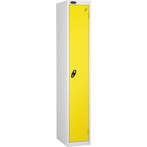 1 Door Locker D305mm White Body &Lemon Door