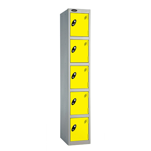 5 Door Locker D:457mm Silver Body &Lemon Door