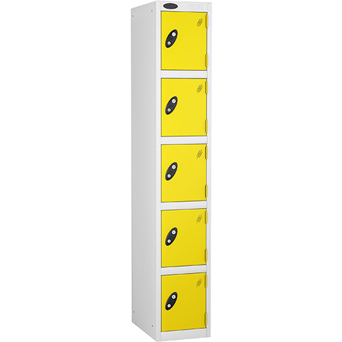5 Door Locker D:457mm White Body &Lemon Door