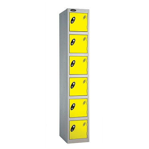 6 Door Locker D:457mm Silver Body &Lemon Door