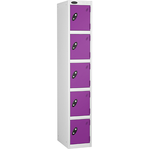 5 Door Locker D:305mm White Body &Lilac Door