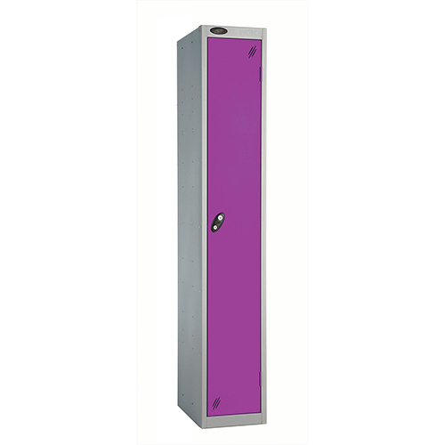 1 Door Locker D305mm Silver Body &Lilac Door