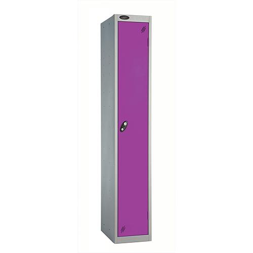 1 Door Locker D457mm Silver Body &Lilac Door