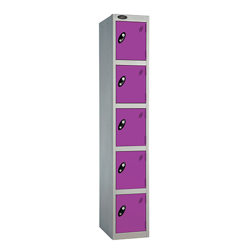 5 Door Locker D:457mm Silver Body &Lilac Door
