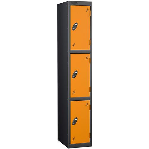 Black Body Locker 12x18 3 Orange Doors