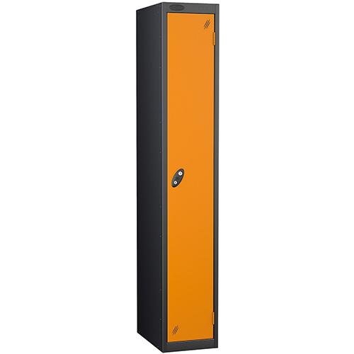 Black Body Lockers 12X18 Single Orange Door