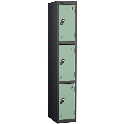 Black Body Locker 12x18 3 Jade Doors
