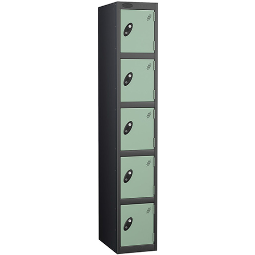 Black Body Locker 12x18 Five Jade Doors