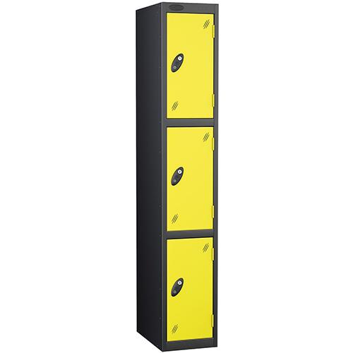 Black Body Locker 12x18 3 Lemon Doors