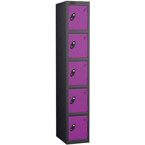 Black Body Locker 12x18 Five Lilac Doors