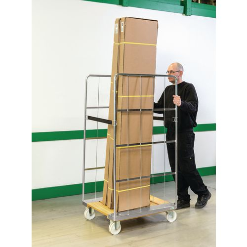 Rollcontainer With Wood Base 800x710x1600mm