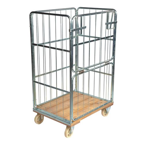 Rollcontainer With Wood Base 845x630x1390mm