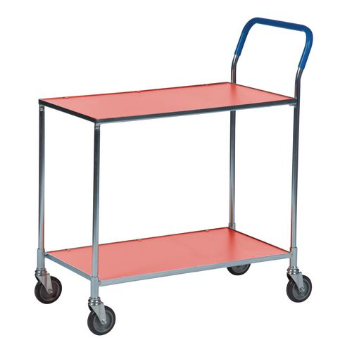 Two Tier Shelf Trolley Red