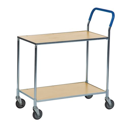 Two Tier Shelf Trolley -Birch