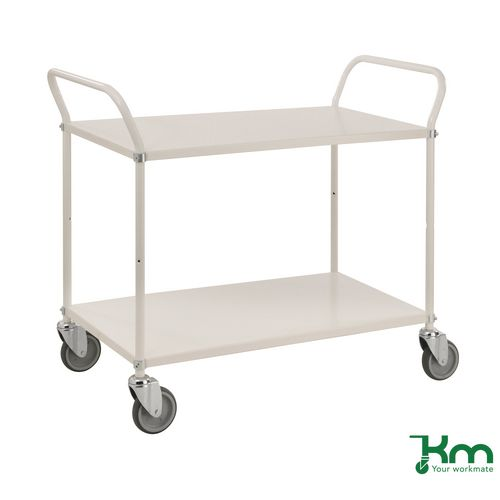 Light Shelf Trolley White
